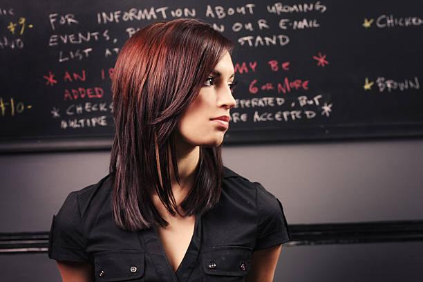 Trendy Hairstyle Portrait stock photo