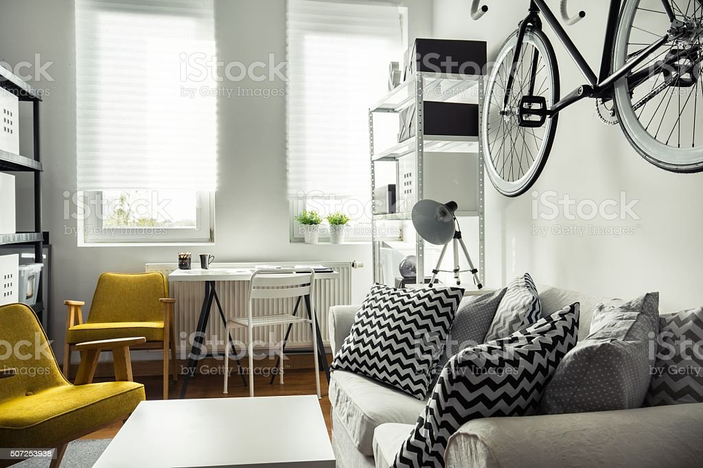 Trendy hipster's space stock photo