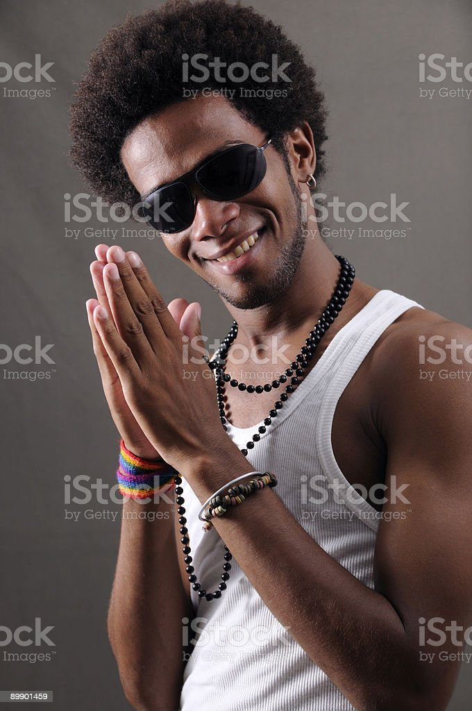 Trendy latino man royalty-free stock photo