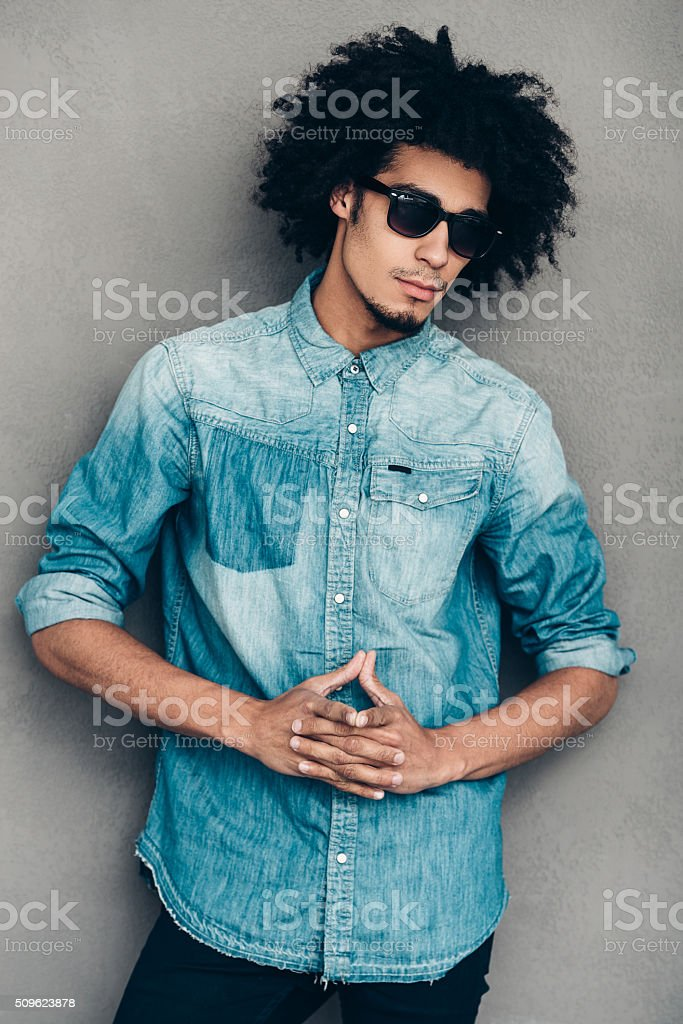 Trendy look. stock photo