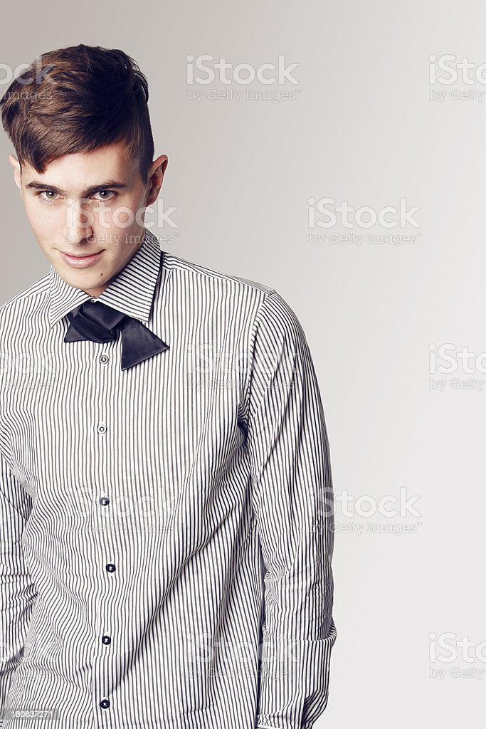 Trendy male portrait royalty-free stock photo