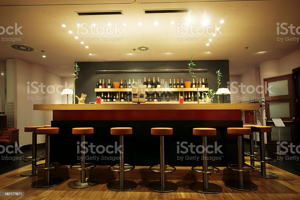 Trendy modern bar stock photo