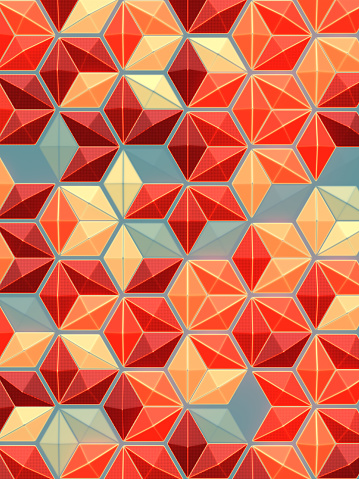 624878906 istock photo Trendy multi colored graphic concept. Digital background illustration 3d render 1264060831