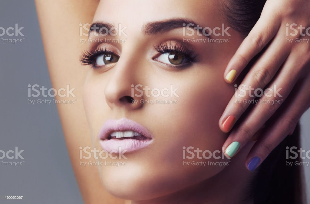 Trendy nail color stock photo