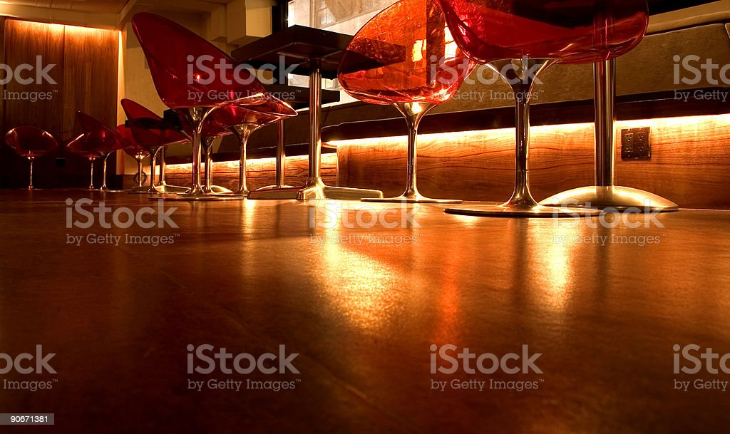 Trendy New York Nightclub - Floor Level View royalty-free stock photo