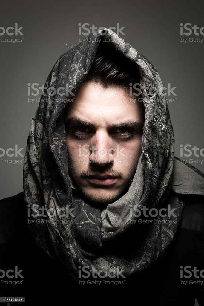 Trendy Real Male Portrait stock photo