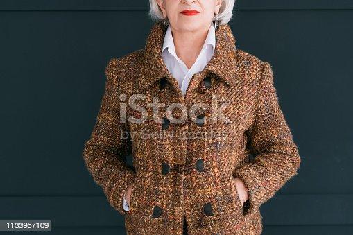 1133515238 istock photo trendy senior wardrobe female style elegance tweed 1133957109