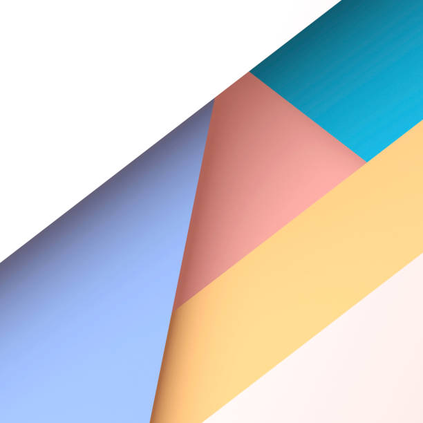 Trendy square geometric pattern. 3d render stock photo