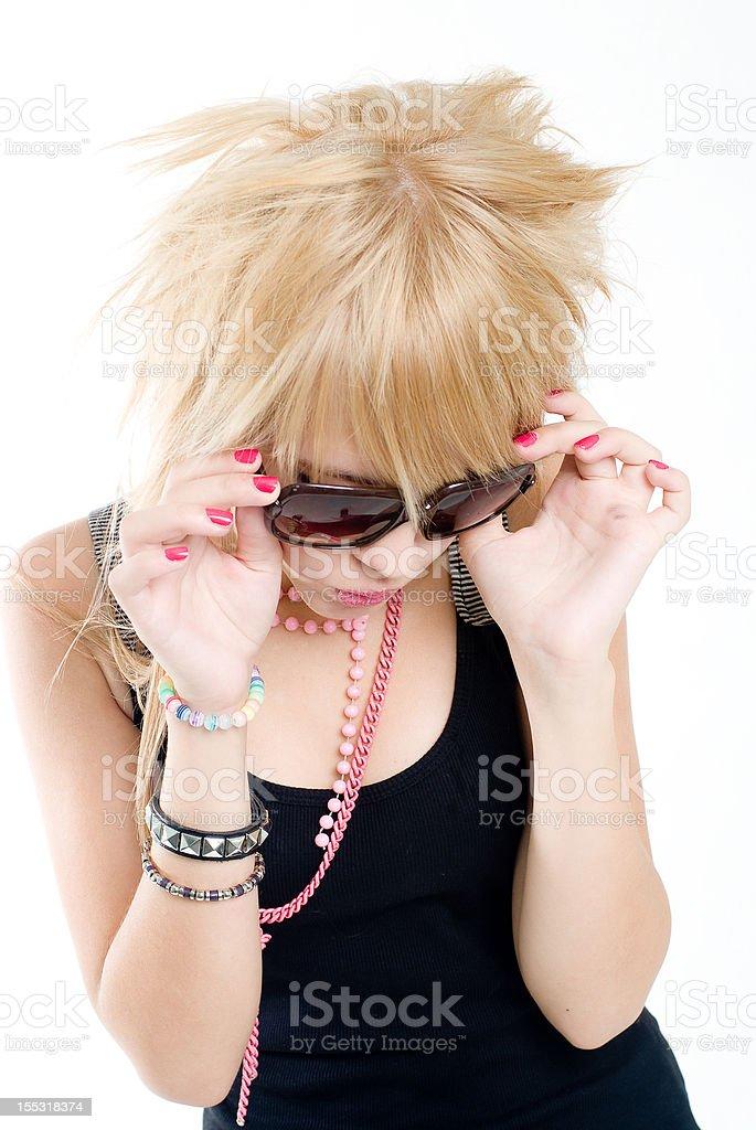Trendy teenage girl royalty-free stock photo