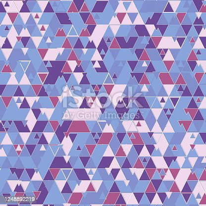 520740170 istock photo Trendy triangular shapes template pattern. Colorful abstract design 3d rendering 1248892219