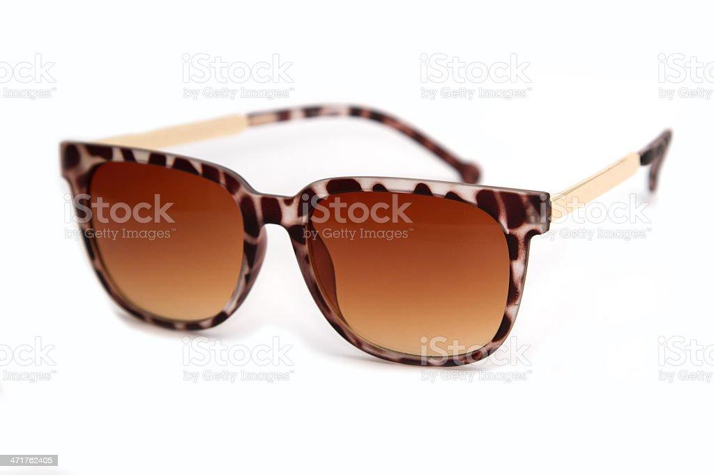 trendy woman sunglasses, isolate royalty-free stock photo
