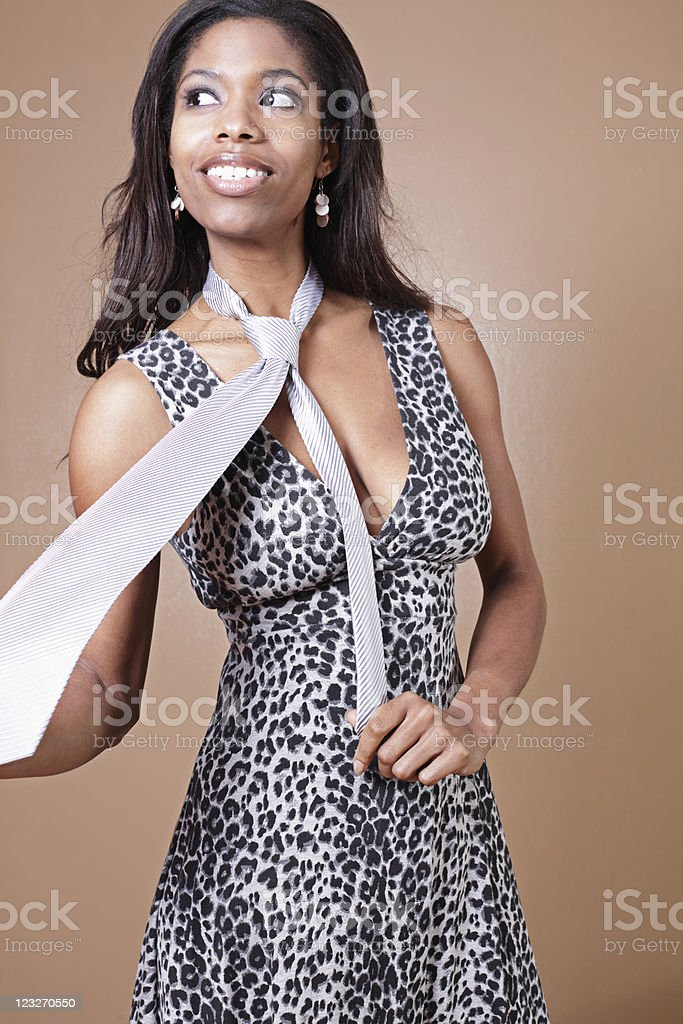 Trendy young businesswoman royalty-free stock photo