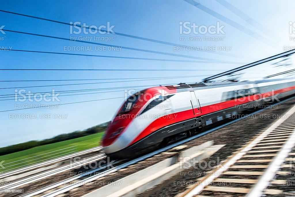 Treno ad alta velocità stock photo