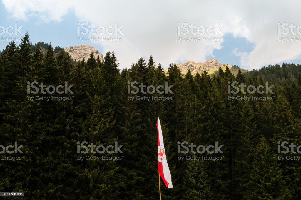 Trentino Alto Adige flag stock photo