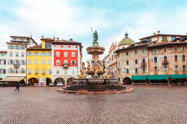 Trento city, Trentino Alto Adige stock photo