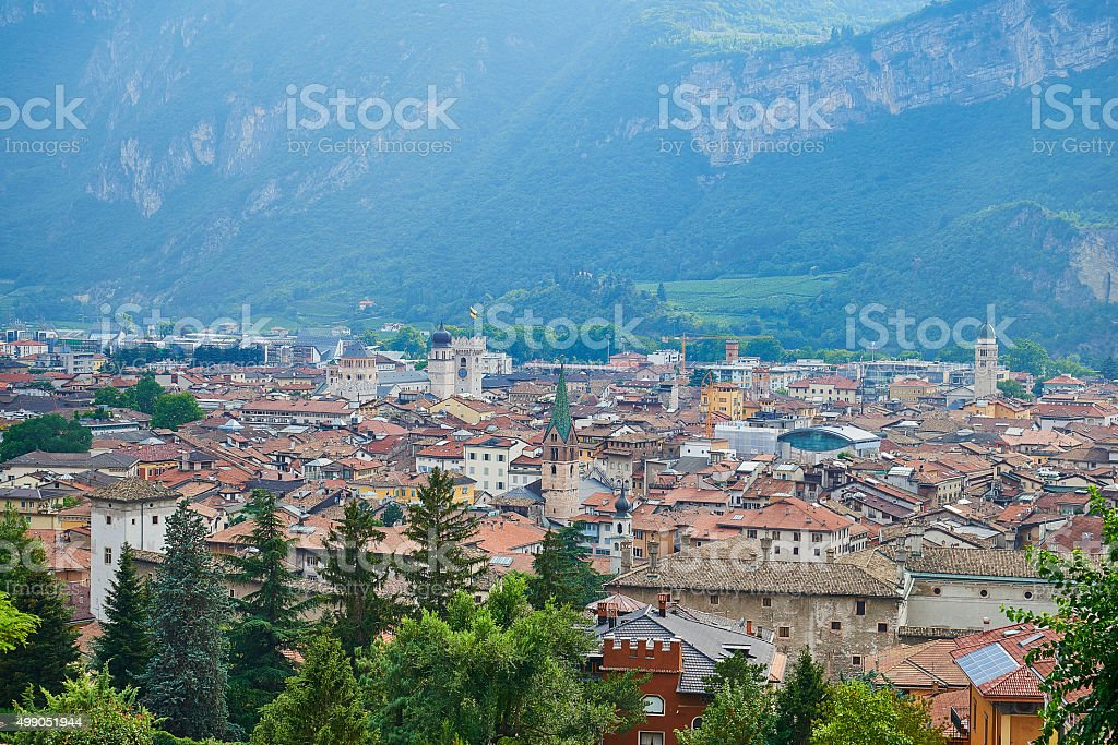 Trento Northern Italy in Trentino district stock photo