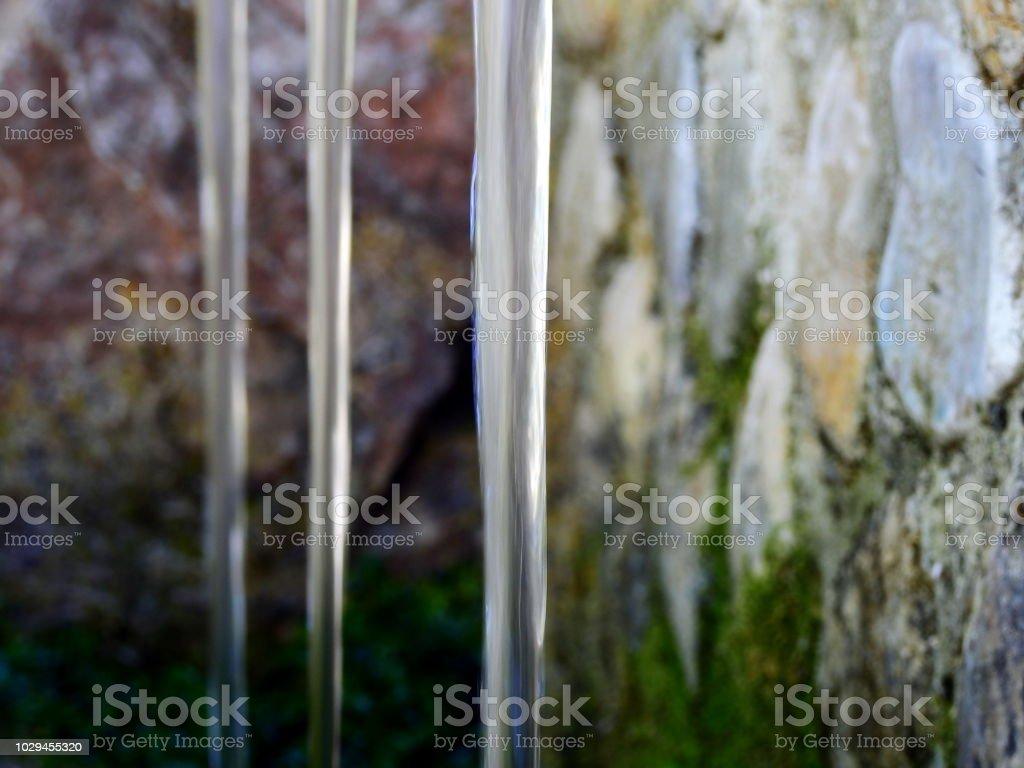 Tres chorros de agua fresca stock photo