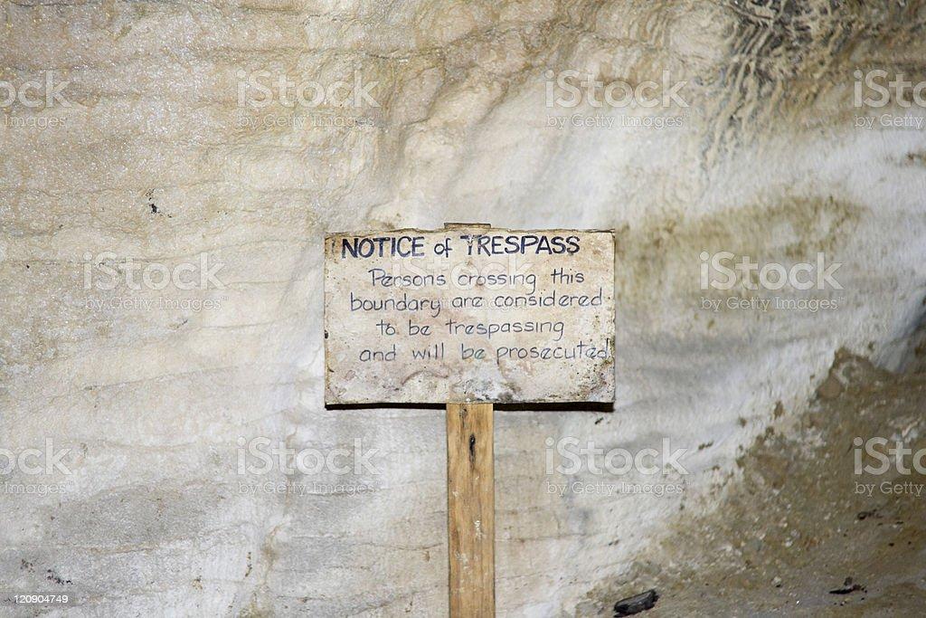 Trespass Notice royalty-free stock photo