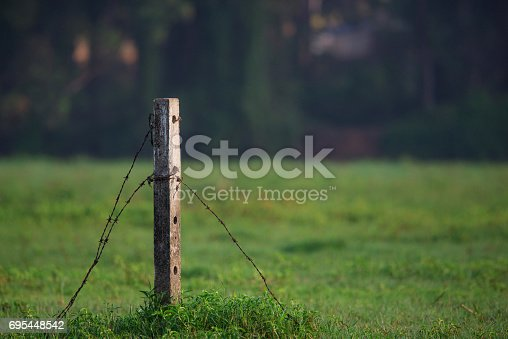 Broken Fence at a private field in a remote village