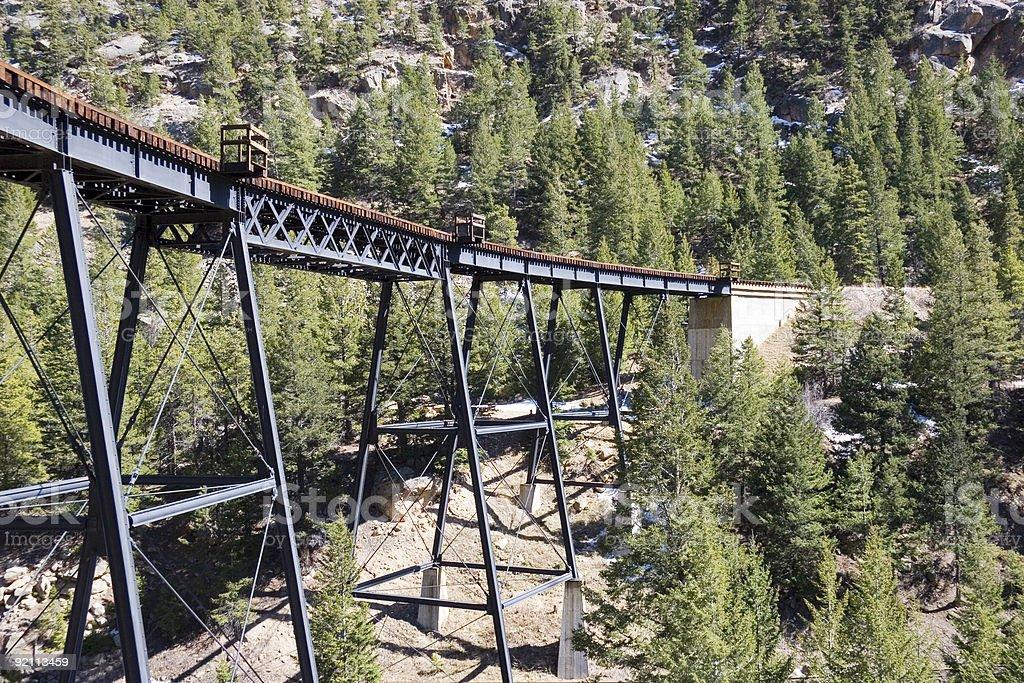 Trestle in Rockies - 1 royalty-free stock photo