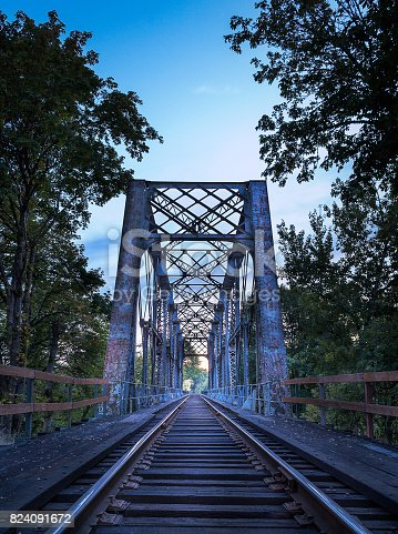 A railroad trestle in Oregon