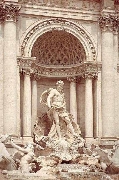 Trevi Fountain in Roma, Italy. stock photo