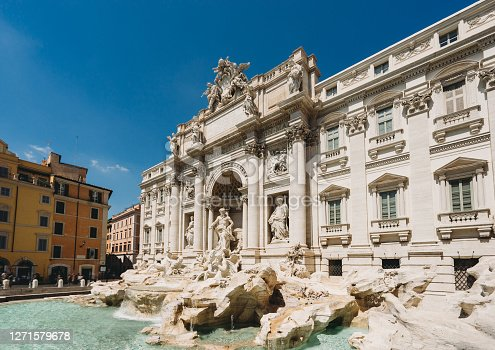Trevi fountain in Rome, Italy. Famous landmark in Rome.