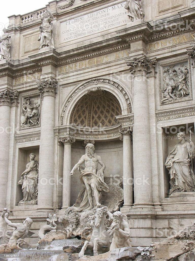 Trevi fountain in Rome stock photo