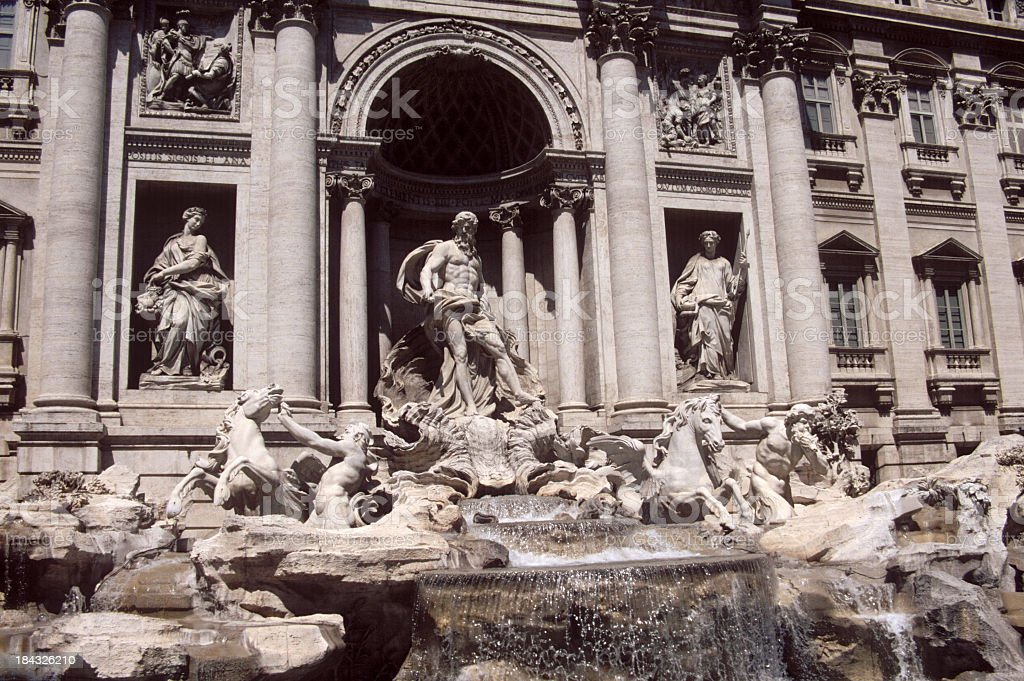 Trevi Fountain in Rome royalty-free stock photo