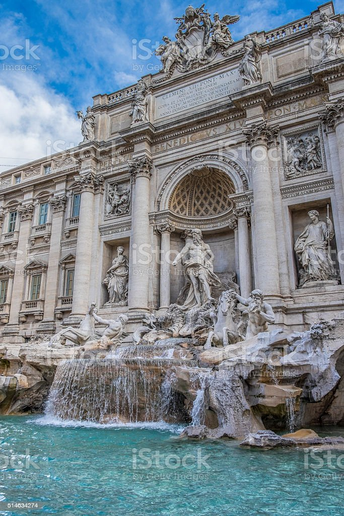 Trevi Fountain in the Morning stock photo