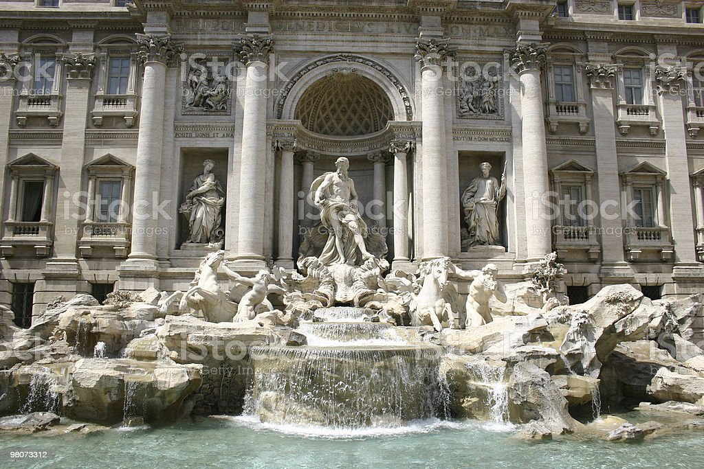 Fontana de Trevi royalty-free stock photo