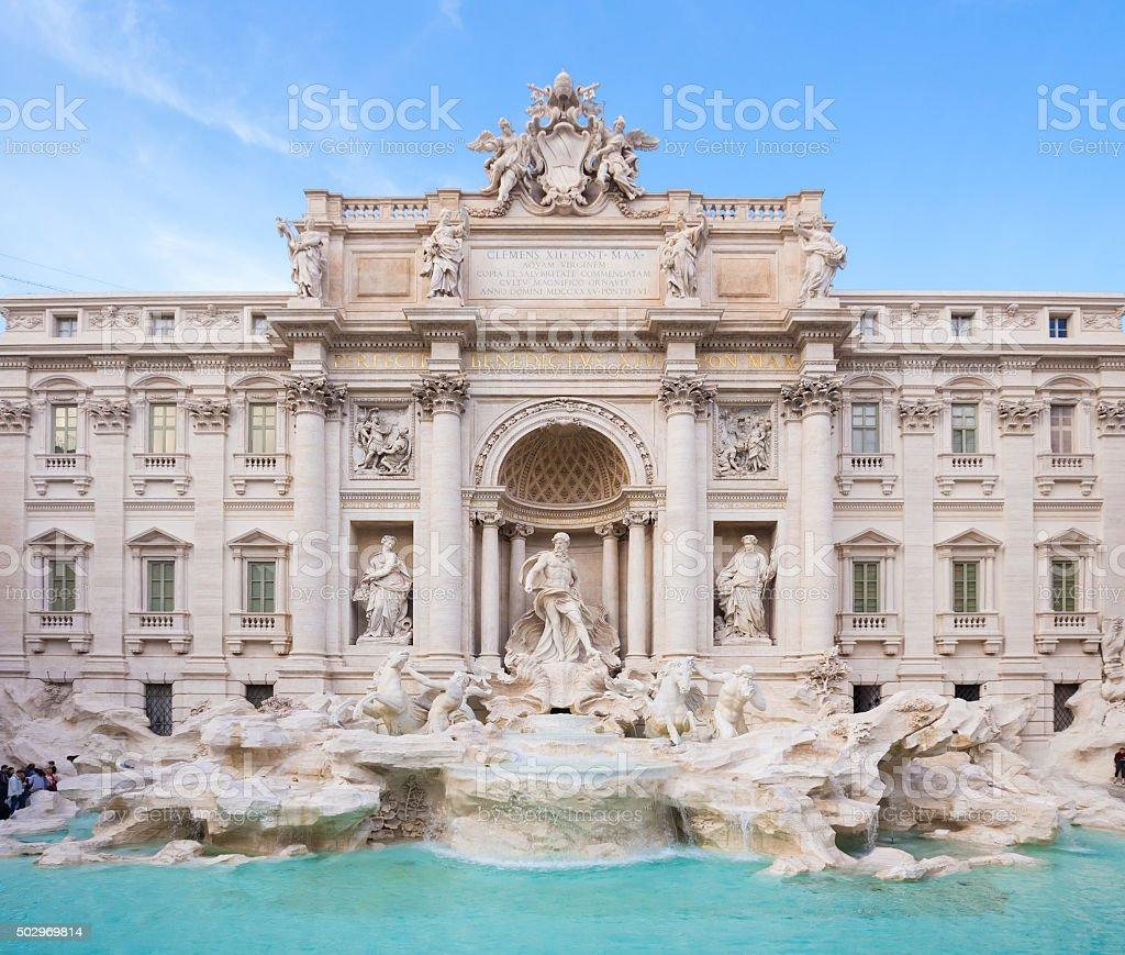 Fonte de Trevi, Roma, Itália. - foto de acervo