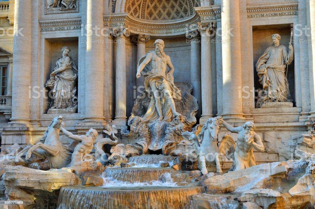 Trevi Fountain, Rome. Italy stock photo