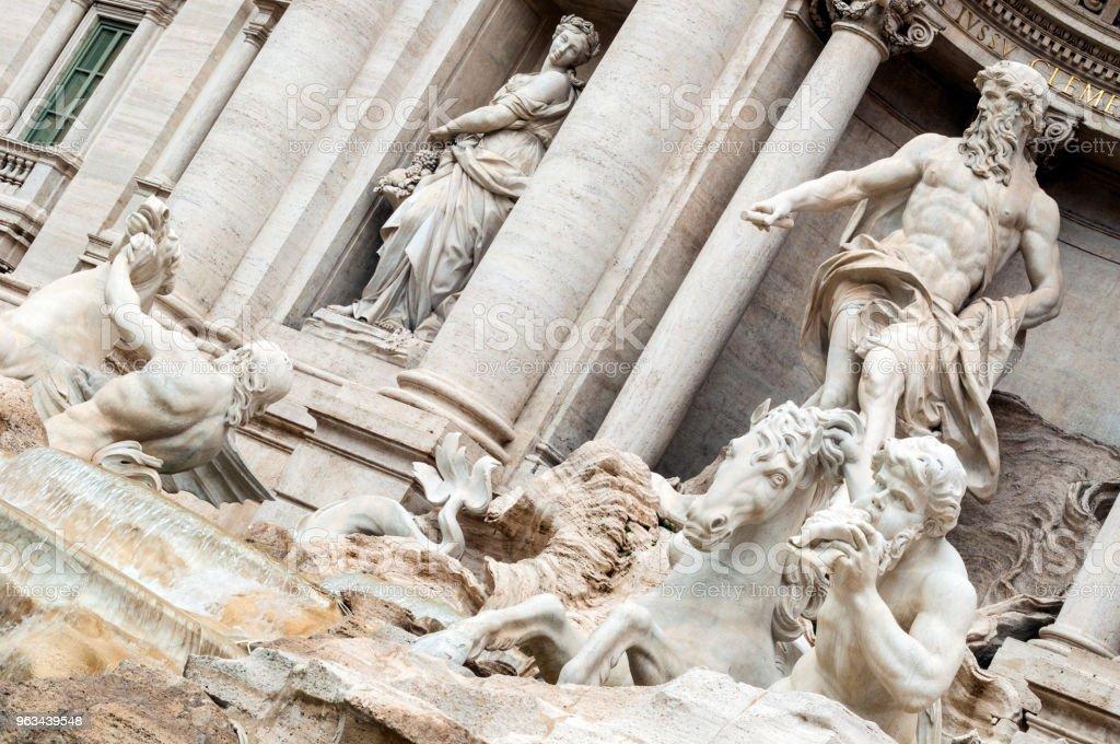 Trevi Fountain : Rome, Italy - Zbiór zdjęć royalty-free (Architektura)