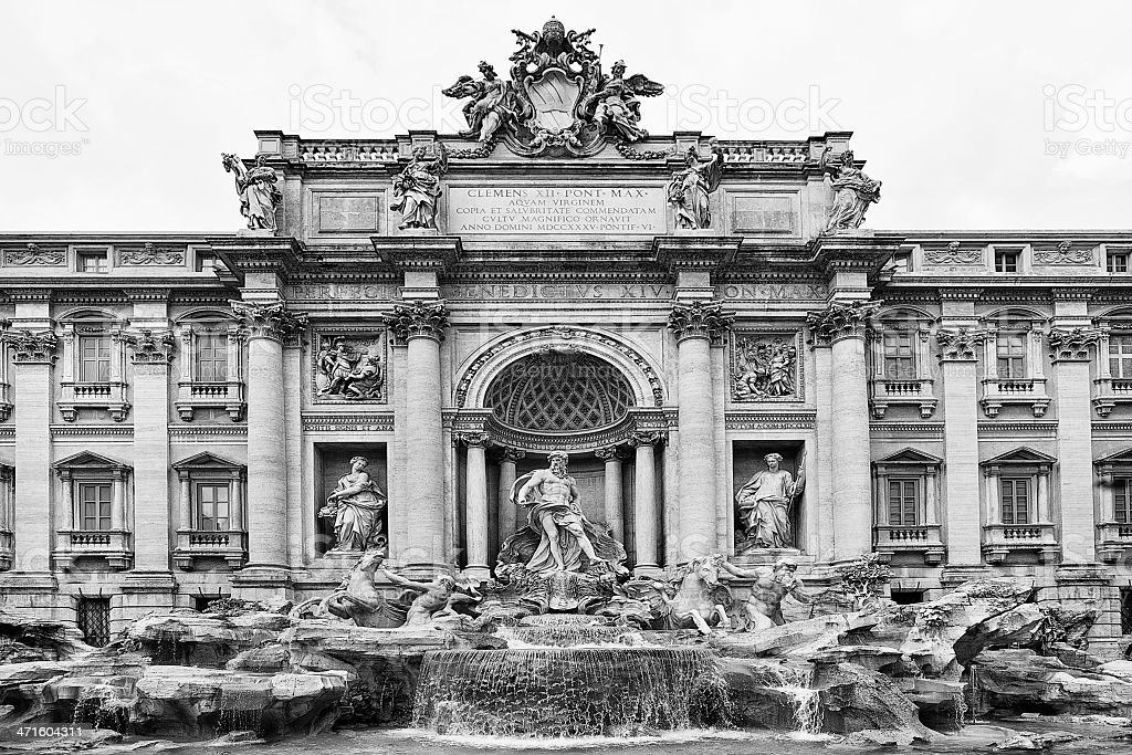 Trevi Fountain Rome royalty-free stock photo