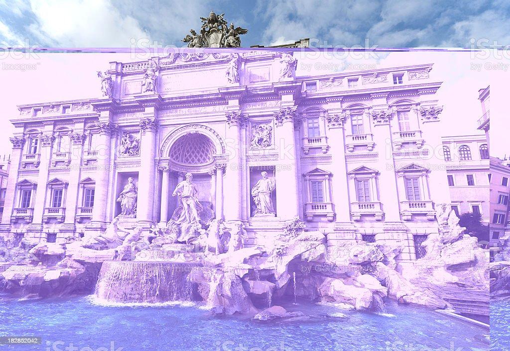 Trevi Fountain, Rome XVII sec. AD royalty-free stock photo