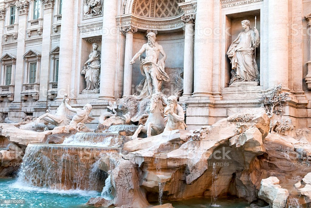 Trevi Fountains in Rome III stock photo
