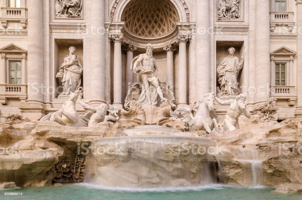 Trevi Fountains in Rome stock photo
