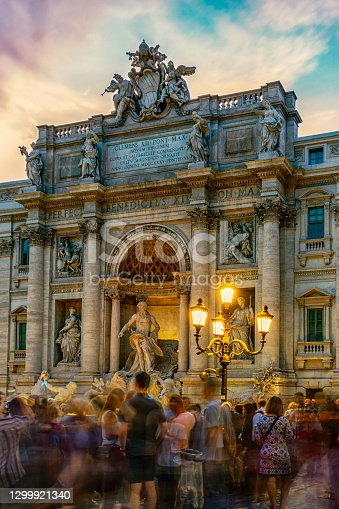 Trevi Fountain is the most beautiful and most spectacular fountain in Rome. Millions of people visit it every year to make a wish.
