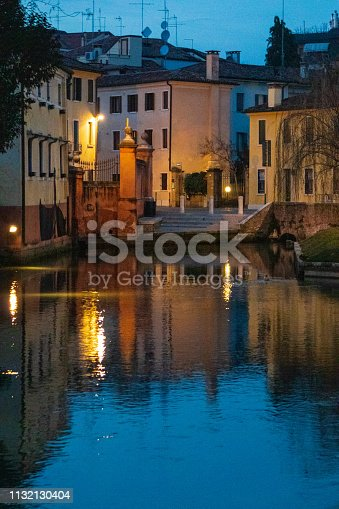 Treviso - Buranelli canal at night