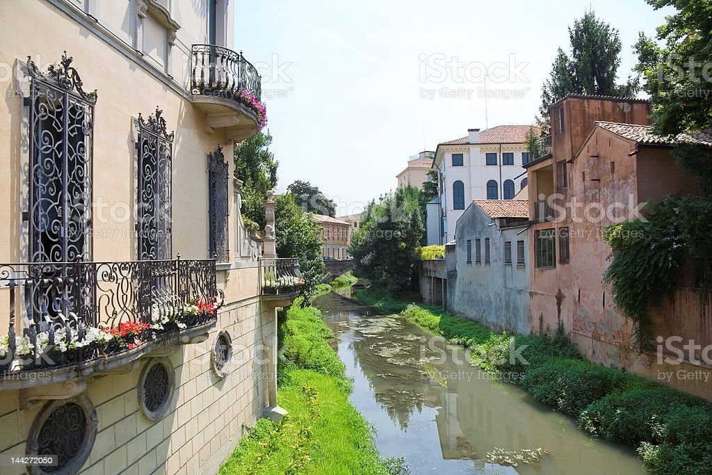 Treviso canal stock photo
