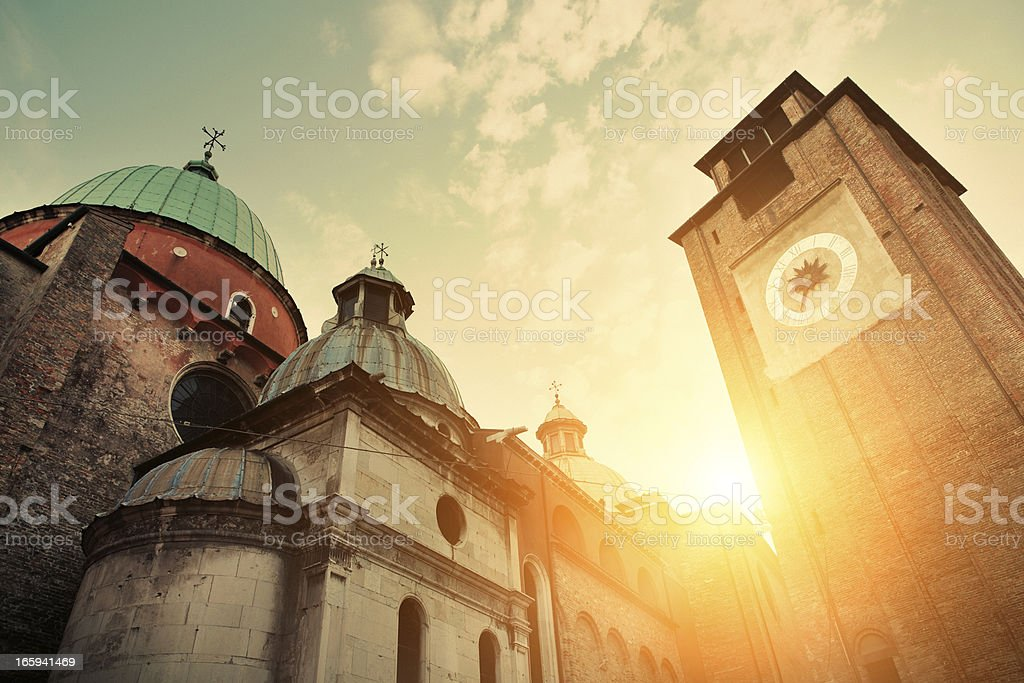 Treviso Cathedral, Italy stock photo
