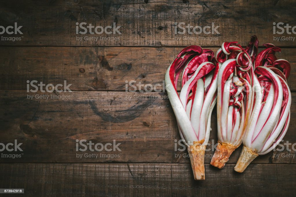 Treviso red radish stock photo