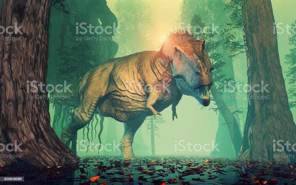 Trex dinosaur stock photo