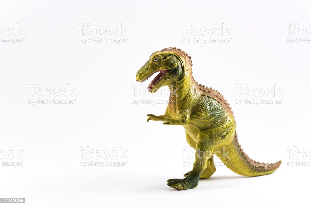 Brinquedo de T-rex (fundo branco) - foto de acervo
