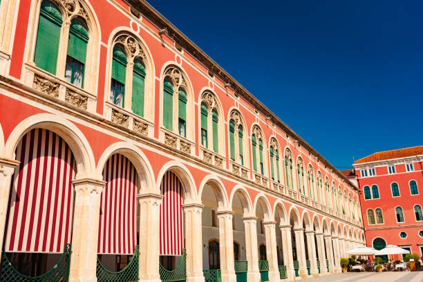Trg Republike in Split, an amazing city at the Adriatic Sea, Croatia Trg Republike (Republic Square) in Split, an amazing city at the Adriatic Sea, Croatia, UNESCO WORLD HERITAGE SITE croatian culture stock pictures, royalty-free photos & images