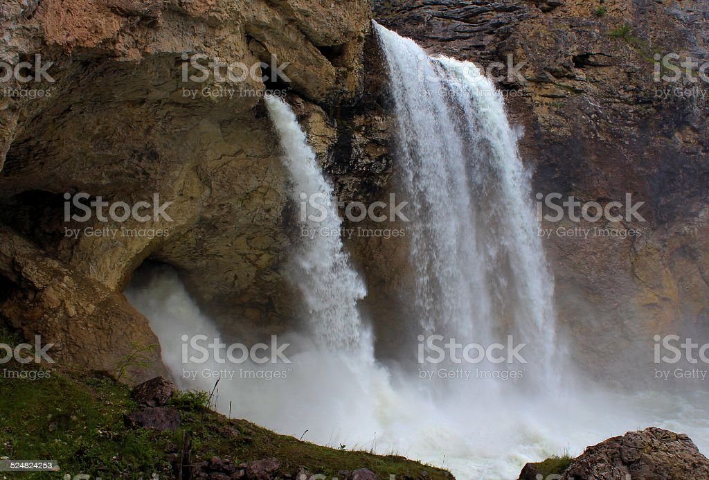 Tri Falls - Boulder River stock photo