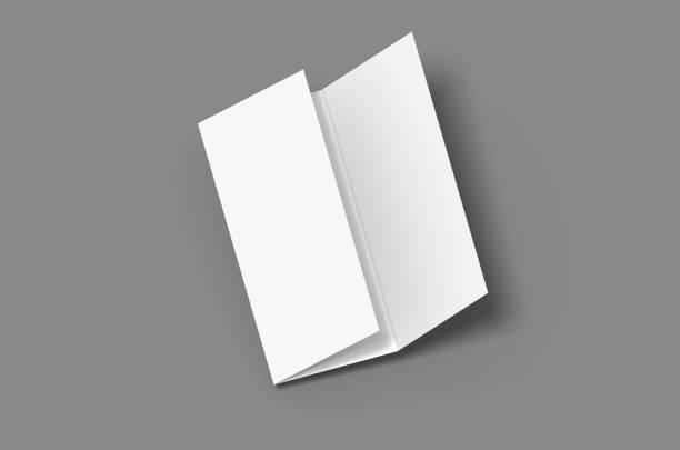 Tri fold mockup stock photo