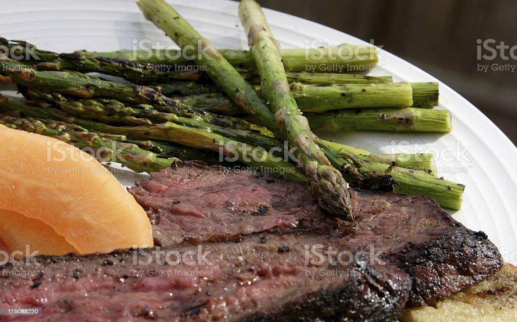 tri tip steak platter royalty-free stock photo