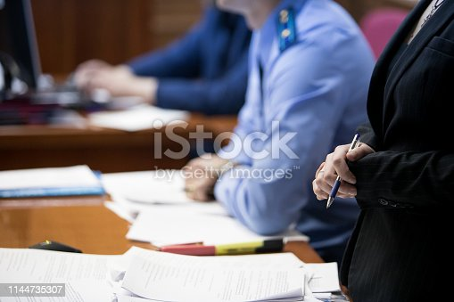 istock trial in the courtroom of the Russian Federation 1144735307